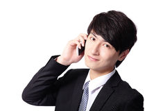 Asian businessman using mobile phone Royalty Free Stock Photos