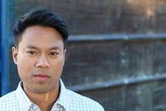 Asian businessman. Wearing a casual shirt stock photos