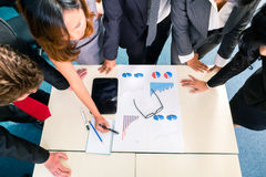 Asian Businesspeople meeting in office Stock Photo