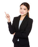 Asian businessswoman with finger point up Stock Photos