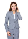 Asian businessswoman talk to cellphone Royalty Free Stock Photo