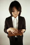 Asian businesswoman with abacus Stock Image