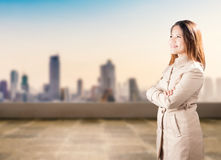 Asian businesswoman arm crossed Stock Image