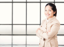 Asian businesswoman arm crossed Royalty Free Stock Photography