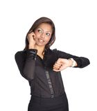 Asian businesswoman on cell phone Royalty Free Stock Image