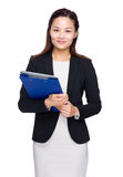 Asian businesswoman with clipboard Stock Photos