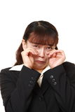 Asian businesswoman cries Royalty Free Stock Photos