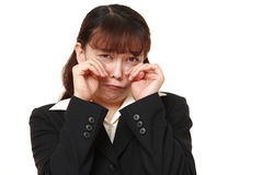 Asian businesswoman cries Stock Image