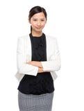 Asian businesswoman cross arm Stock Photos