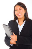 Asian businesswoman with documents Stock Photography