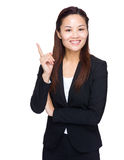 Asian businesswoman finger point up Stock Photography