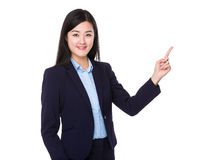 Asian businesswoman with finger point up Stock Photography