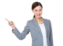 Asian businesswoman with finger point up Royalty Free Stock Photo