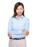 Asian businesswoman fold arm Stock Image