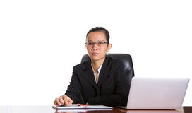 Asian Businesswoman With Glasses II Royalty Free Stock Images