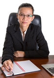Asian Businesswoman With Glasses III Stock Photo