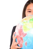 Asian businesswoman with globe Royalty Free Stock Photos