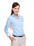 Asian businesswoman hand inside pocket Royalty Free Stock Photos