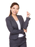 Asian Businesswoman with hand snapping Royalty Free Stock Photography