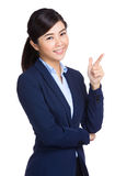 Asian businesswoman hand with tick sign Royalty Free Stock Image