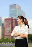 Asian businesswoman happy in urban Tokyo city Stock Images