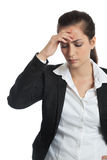 Asian Businesswoman headache royalty free stock photography