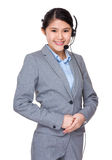 Asian businesswoman with headset Royalty Free Stock Photos