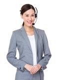 Asian businesswoman with headset Stock Photo
