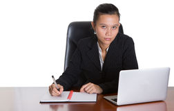 Asian Businesswoman At Her Office III Stock Photos