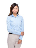Asian businesswoman hold arm Royalty Free Stock Photography