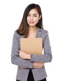 Asian businesswoman hold with clipboard Royalty Free Stock Photos
