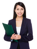 Asian businesswoman hold with file Stock Images