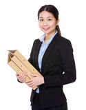 Asian Businesswoman hold with folder Royalty Free Stock Photos