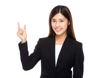 Asian businesswoman hold with small thing Royalty Free Stock Photography