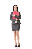 Asian businesswoman holding a clipboard Stock Images