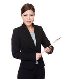 Asian businesswoman holding with clipboard Stock Photo