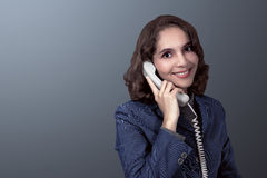 Asian businesswoman holding the phone Royalty Free Stock Image