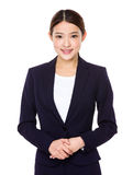 Asian businesswoman. Isolated on white background royalty free stock photography