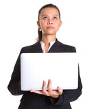 Asian Businesswoman With Laptop II Stock Photo