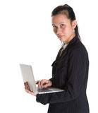 Asian Businesswoman With Laptop VI Royalty Free Stock Photography