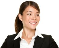 Asian businesswoman looking sideways Royalty Free Stock Image