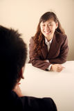 Asian businesswoman in a meeting Royalty Free Stock Image