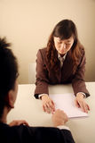 Asian businesswoman in a meeting Royalty Free Stock Images