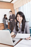 Asian businesswoman in the office Royalty Free Stock Images