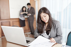 Asian businesswoman in the office Stock Images