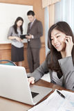 Asian businesswoman in the office Stock Photography
