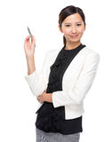 Asian businesswoman pen up Stock Photos