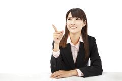 Asian businesswoman pointing Stock Images