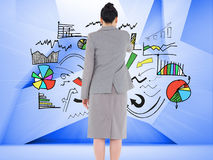 Asian businesswoman pointing Stock Photo