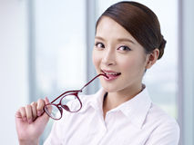 Asian businesswoman. Portrait of a young asian businesswoman Stock Images